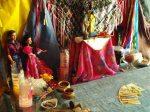 Foto do Altar dos Ciganos, mantido pela Cigana Henriqueta e onde se realiza o Tarot Cigano
