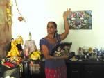Cigana Henriqueta com o Leque na Sala de Casa (Tenda Filhos do Vento)