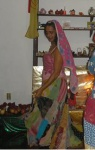 Cigana Henriqueta dançando no Ritual Cigano